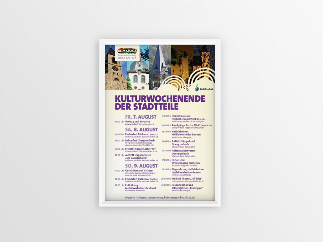 Heimattage Baden-Württemberg Veranstaltungsplakate