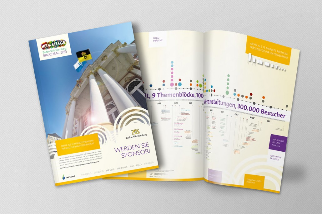 Heimattage Baden-Württemberg Broschüre zur SponsorenAkquise