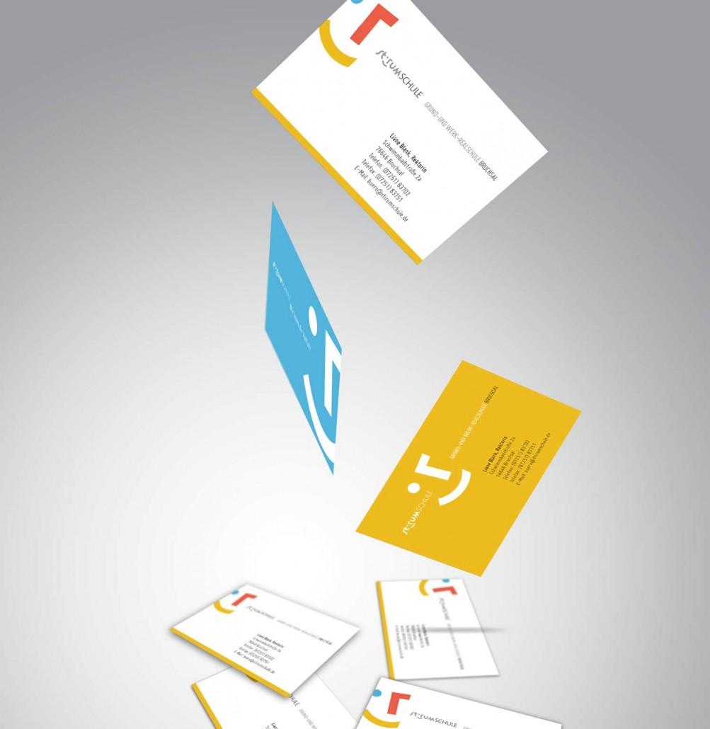 Logodesign für eine Schule Visitenkarten
