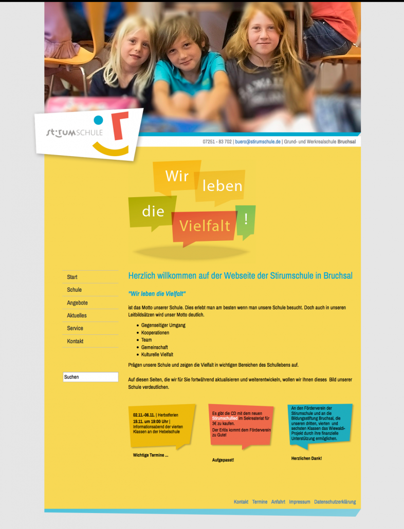 Stirmschule Website