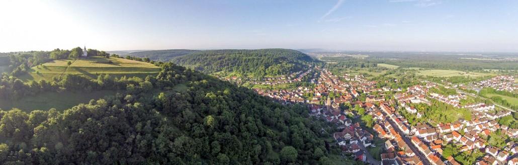 Luftbild Untergrombach Michaelsberg