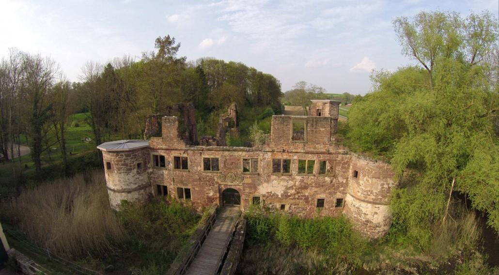 Luftbild Menzingen Wasserschloss