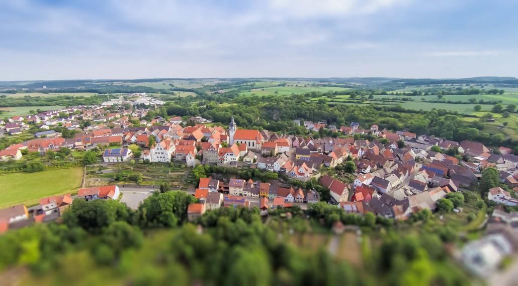 Luftbild Gochsheim Zentrum