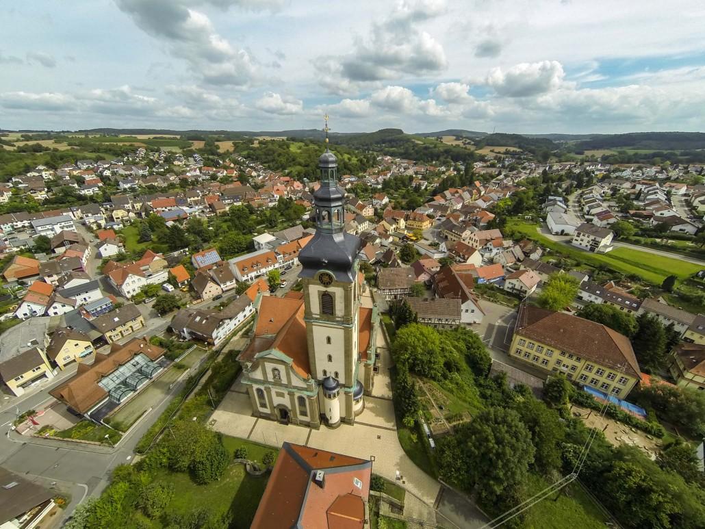 Luftbild Odenheim Barockkirche St. Michael