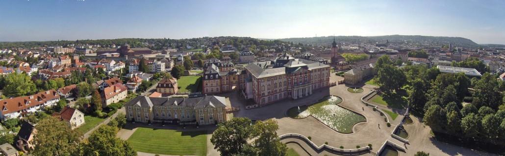 Luftbild Schloss Bruchsal