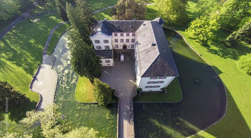 Luftbild Angelbachtal Wasserschloss