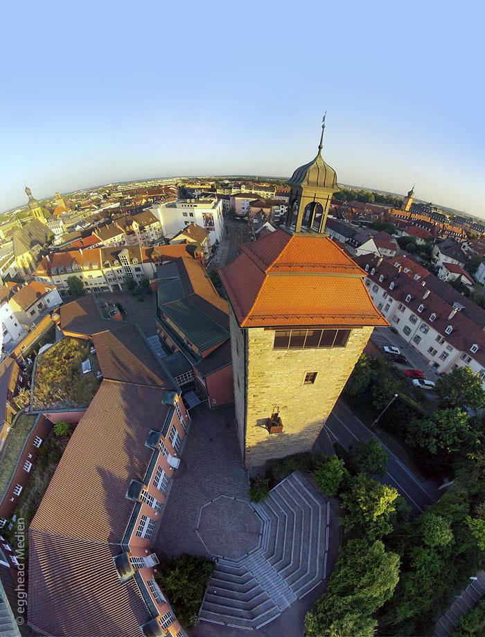 Luftbild Bruchsal Bergfried