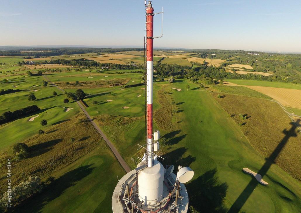 Luftbild Bruchsal Fernmeldeturm Golfplatz