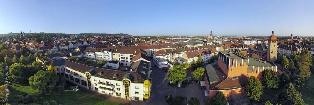 Luftbild Bruchsal-Panorama