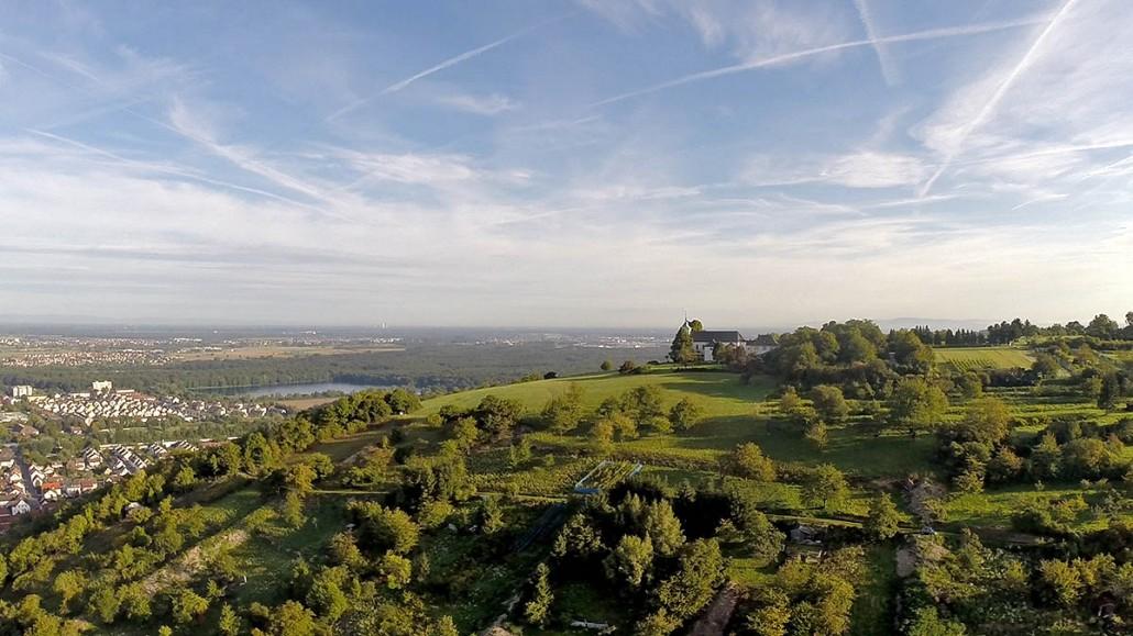 Luftbild Bruchsal Untergrombach Michaelsberg