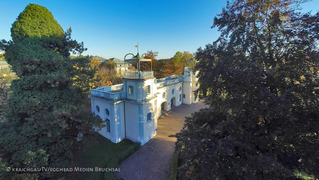 Luftbild Bruchsal Belvedere Herbst Bruchsal