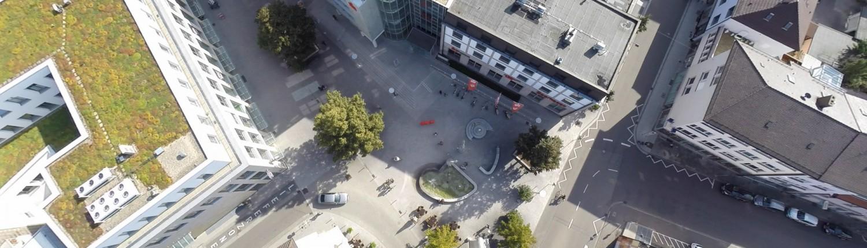 Luftbild Bruchsal Friedrichsplatz