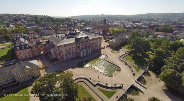 Luftbild Bruchsal Schloss Schlossgarten