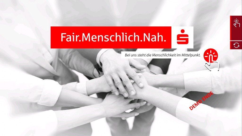Digital-MultiTouchTisch Sparkasse Screenshot