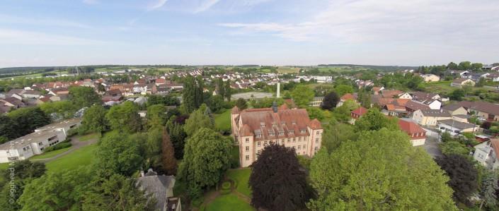 Luftbild Flehingen Schloss