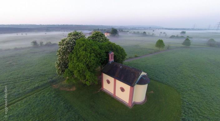 Luftbild Forst Wiesenkapelle Nebel