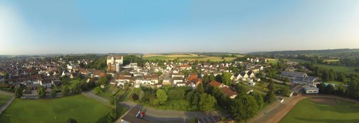 Luftbild Heidelsheim Panorama Sportplatz