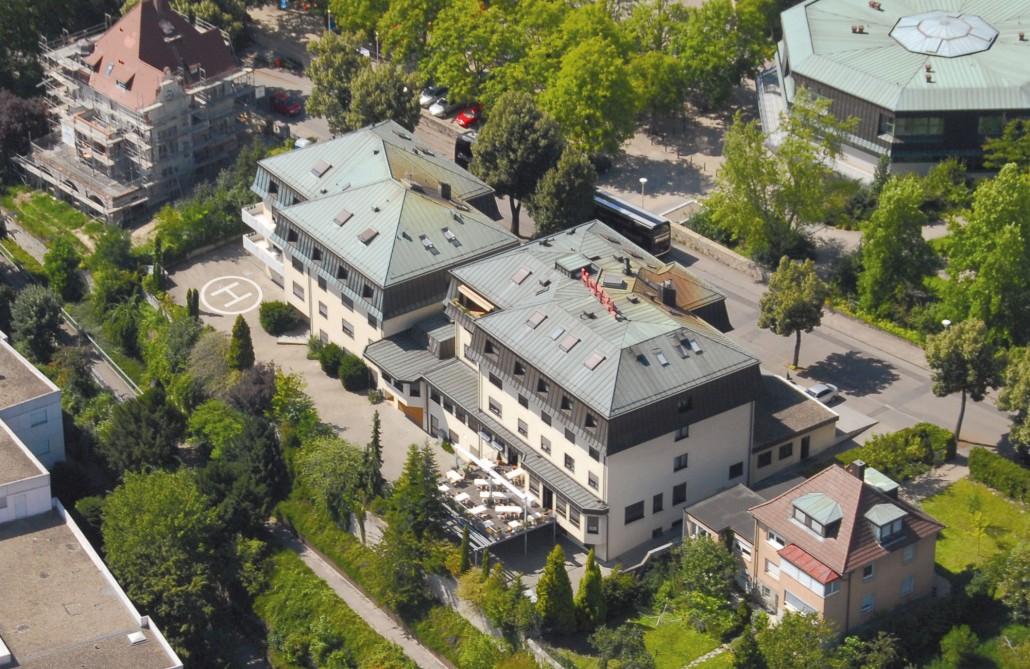 Luftbild Bruchsal Hotel Scheffelhoehe