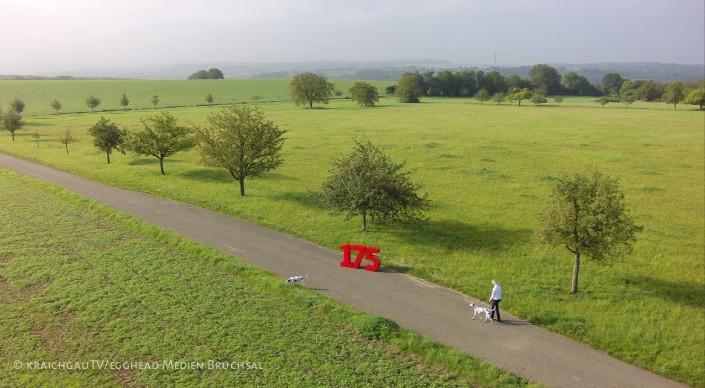 Luftbild Kraichgau Landschaft Sparkasse 175 Bruchsal Rotenberg