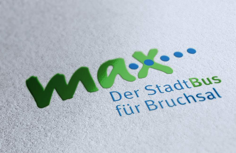 Logo Max Der Stadtbus für Bruchsal