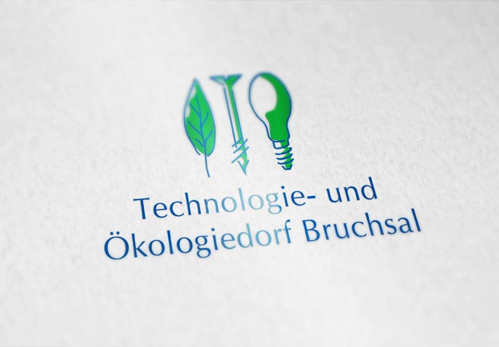 Logo Technologie- und Ökologiedorf Bruchsal