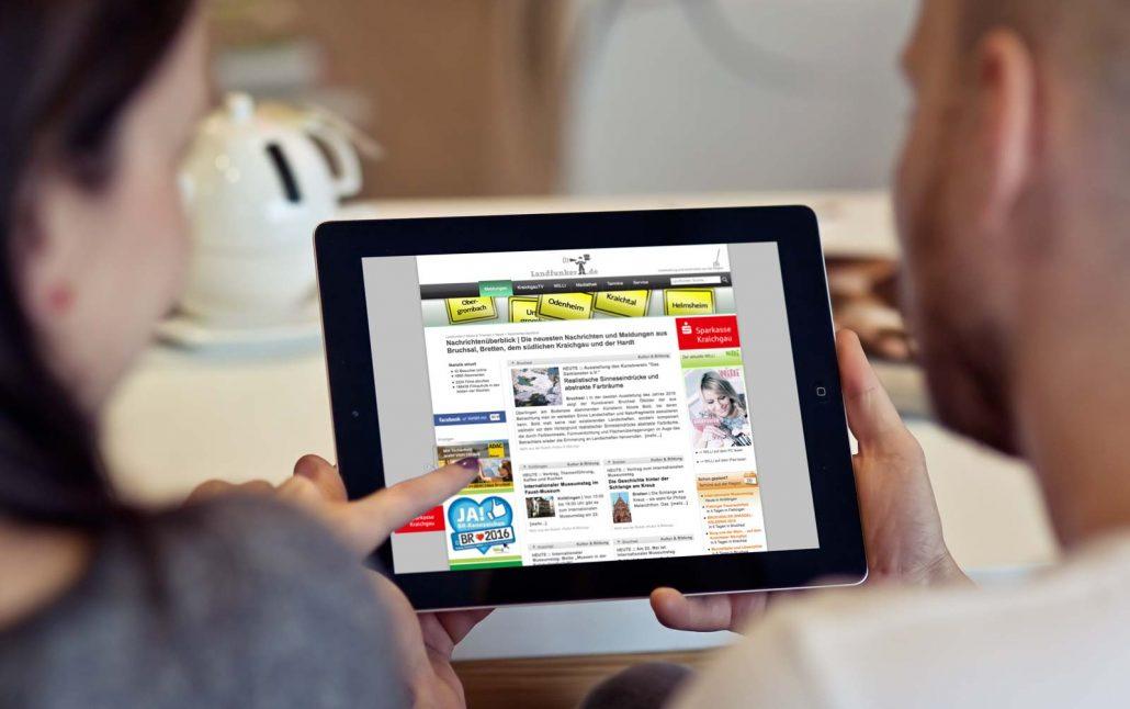 Landfunker auf dem iPad