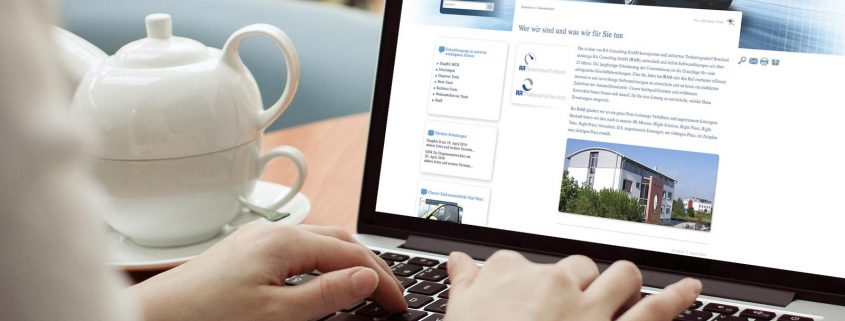 Webauftritt von RA Consulting