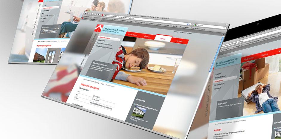 Website Screenshots Familienheim Bruchsal
