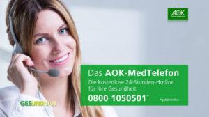 AOK MedTelefon Anzeige