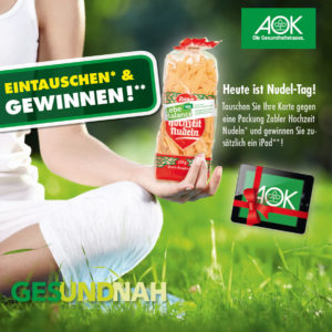 AOK Nudeltag Messewand
