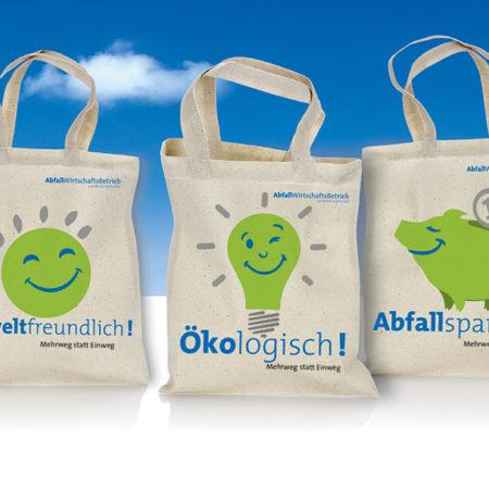 AbfallWirtschaftsBetrieb Taschen mit Illustrationen