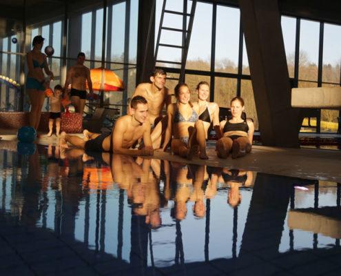 Junge Leute Badewelt Bretten