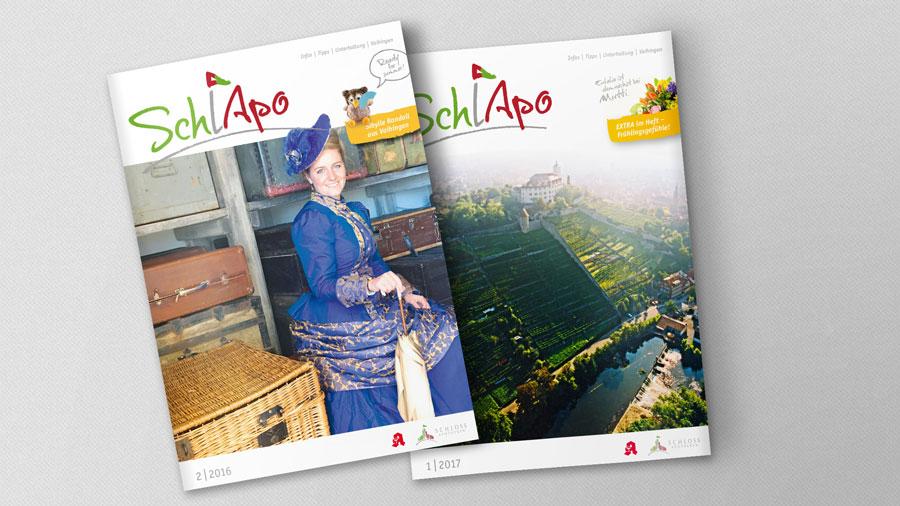 SchlApo Kundenmagazin Titel