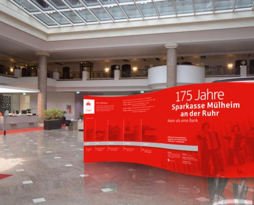 Jubiläumsausstellung Sparkasse Mülheim an der Ruhr Messewand