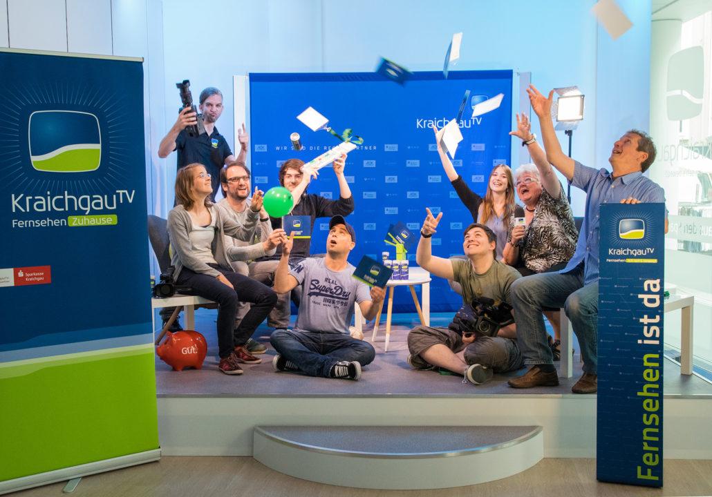 KraichgauTV-Team im Stadtstudio Bruchsal