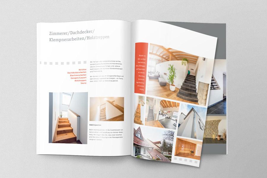Mäckel Bau und Zimmerei Imagebroschüre