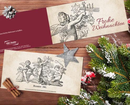 Weihnachtskarte H&C Stader